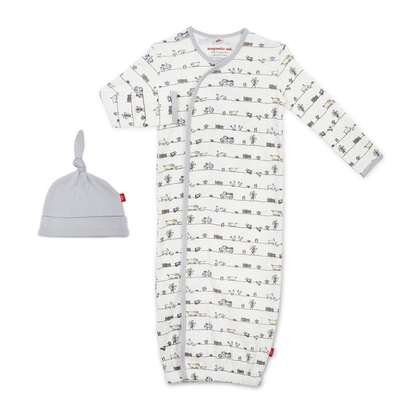 2PC ORGANIC COTTON DIG GOWN SET