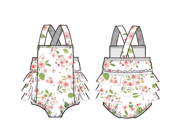 MUSLIN SUNSUIT CHERRY BLOSSOM