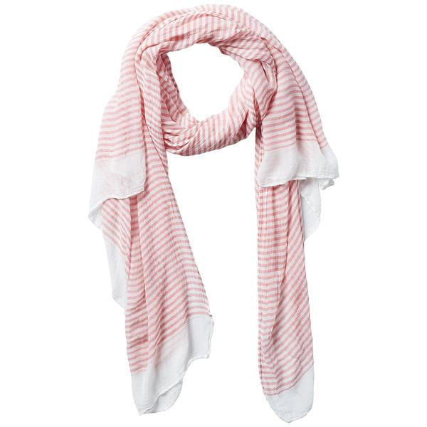 INSECT SHIELD SCARF - TINY STRIPE CORAL