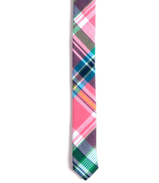 ga ga for kids, boys tie, south beach plaid