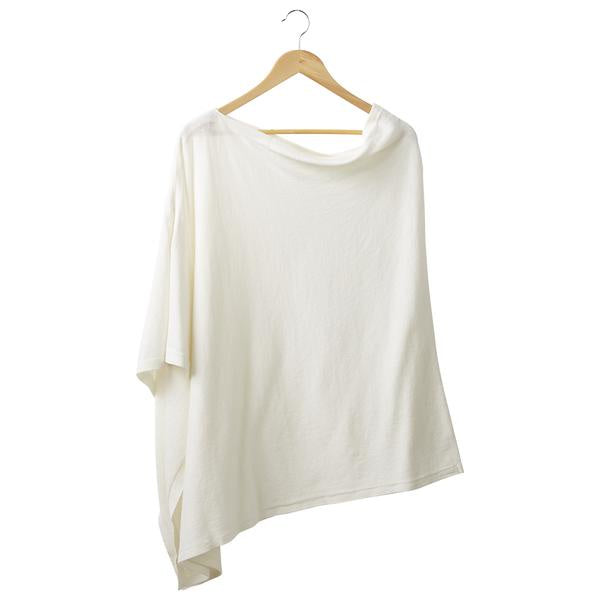 IVORY SOLID COTTON PONCHO
