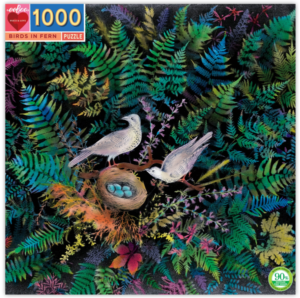 BIRDS IN FERN 1000PC PUZZLE