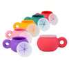 mm snack bowl,100%silicone, spill proof soft flaps, variety of colors. gaga for kids
