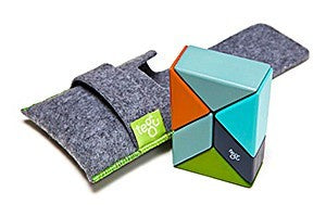 TEGU, 6 PIECE PRISM POUCH IN NELSON, MAGNETIC WOODEN BLOCKS