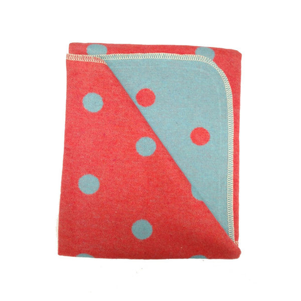 BLANKET POLKA DOTS RED/BLUE