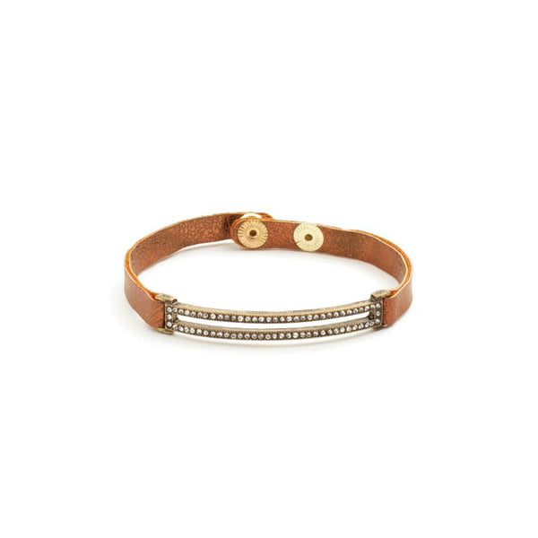 BRACELET NARROW BRZ SHIMMER RECTANGLE GOLD