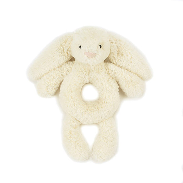 jelly cat, bunny rattle, cream color, gaga for kids