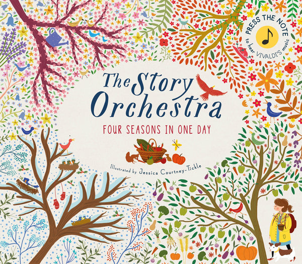 THE STORY ORCHESTRA, FOUR SEASONS IN ONE BOOK, PRESS HOLD FOR MUSIC, GAGA FOR KIDS