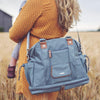 SAIL AWAY SATCHEL NAUTICAL NAVY