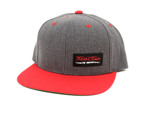 Heather/Red Trader Snapback