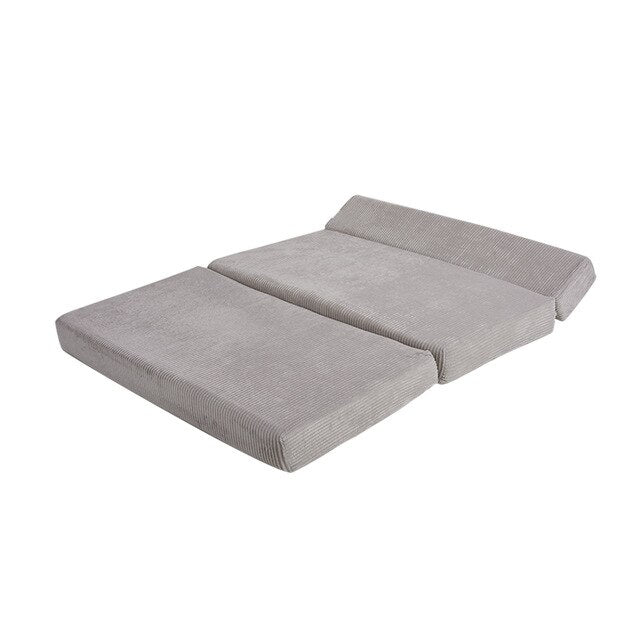 Foldable Sofa bed Pillow Guest Fabric Lounger Convertible Bed or sofa Ideal for Kids Sleep-overs WashableCover - Vintageretrostyle