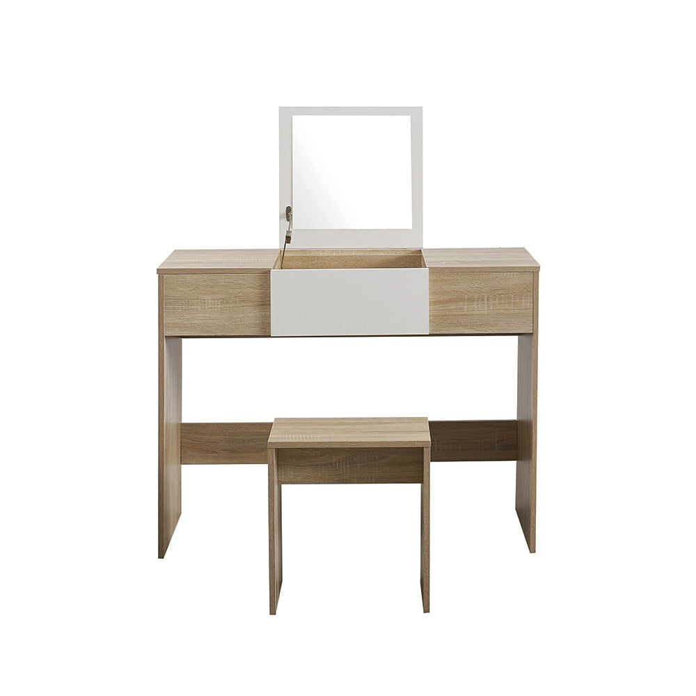 Dressing Table MakeUp Table Furniture With Lift Up Mirror Saving Space - Vintageretrostyle