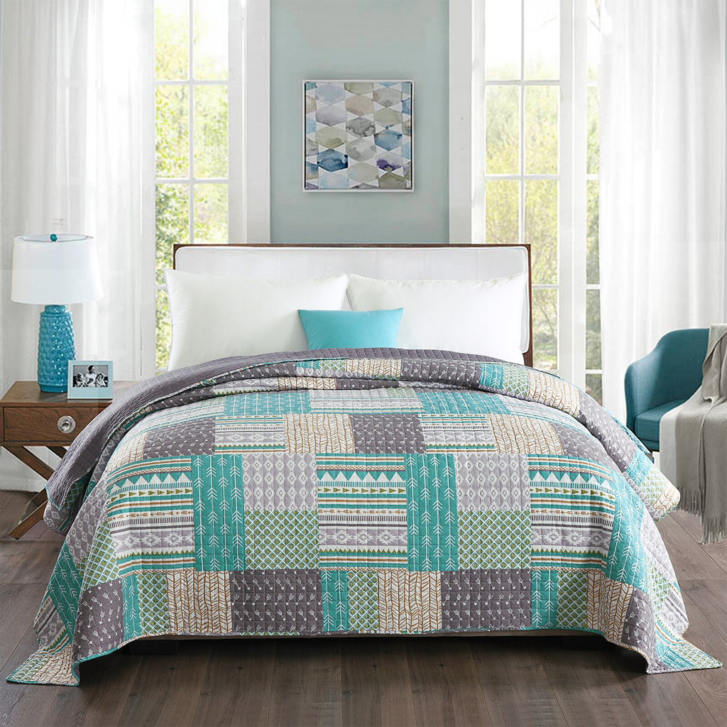 150*200/220*240/170*210/240*260cm Bedspread Quilted Patchwork Bed Throw Skin-friendly Blanket Lightweight Comfortable Cover - Vintageretrostyle