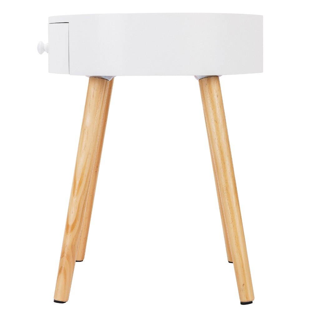 1PC 38x38x48cm Bedside Tables with Drawer Modern Side Tables Nightstands Bedroom Bedside Units Cabinets Coffee Table - Vintageretrostyle