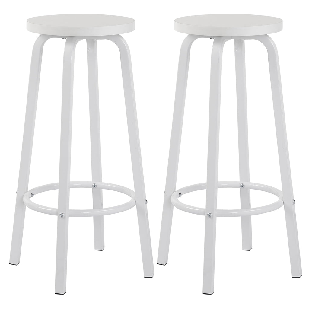 2PCS MDF Seat Metal Legs Bar Chair Breakfast Kitchen Barstools Counter Bar Stools Set High Stools Nordic Pub Accessories Leisure - Vintageretrostyle
