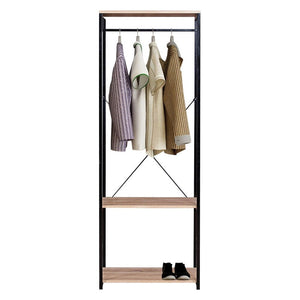 Bedroom Hanging Clothes Rail Heavy Duty Coat Stand Rack with Shoe Rack Storage Shelves Organizer Wardrobe Hanger Home - Vintageretrostyle