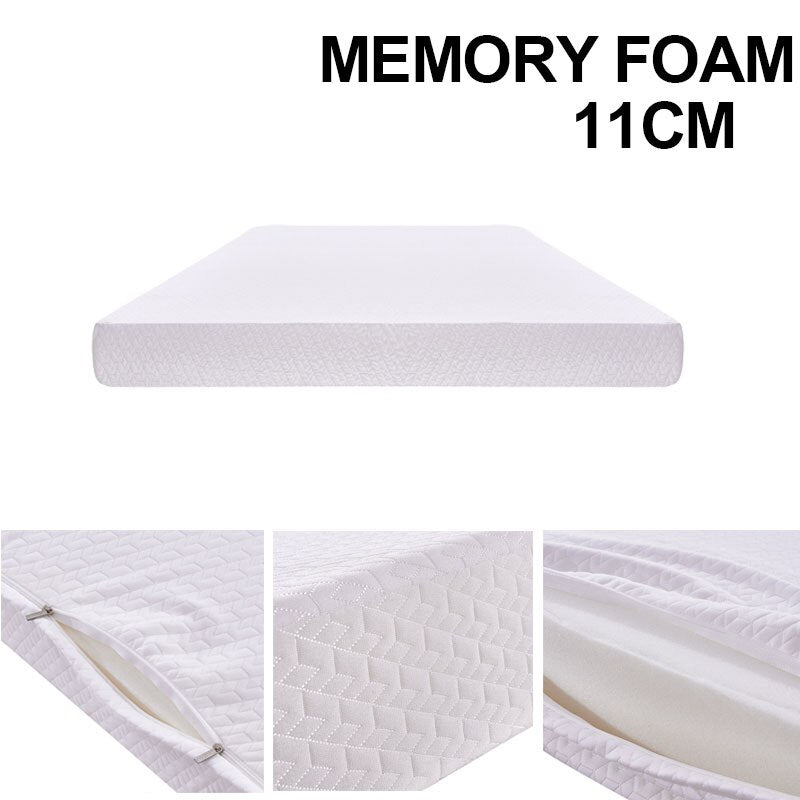 3ft Single Economy Memory Foam Mattress With 100% Sponge 11 Cm Depth 90x190cm - Vintageretrostyle