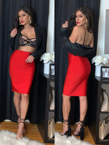 Milah Bandage Skirt (Red)