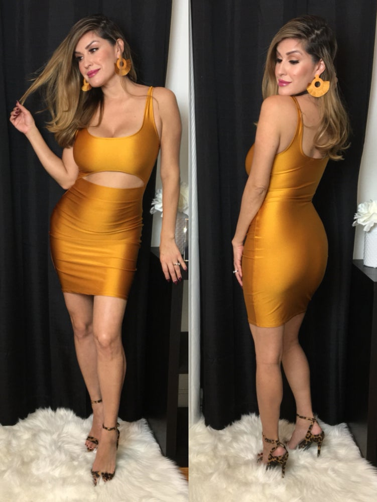 Open Minded Mini Dress (Mustard)