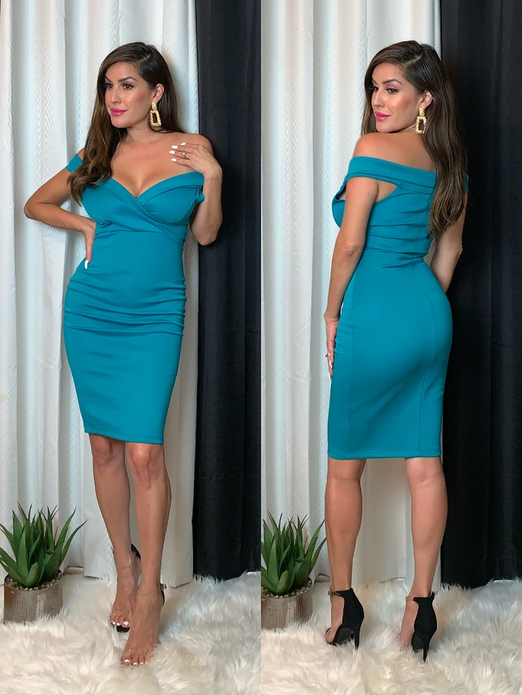 Leia Dress (Turquoise)