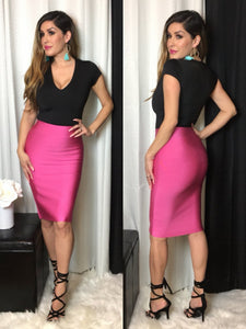 Milah Bandage Skirt (Hot Pink)