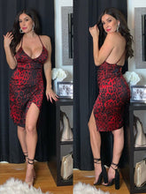 Load image into Gallery viewer, Private Party Leopard Cami Dress