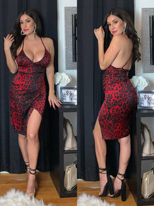 Private Party Leopard Cami Dress