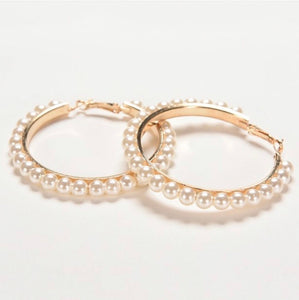 Nicole Pearl Earrings