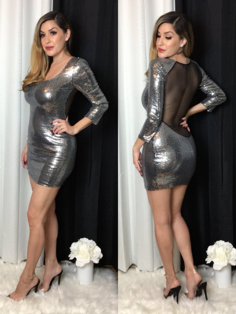 Haute Metallic Dress