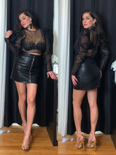 Load image into Gallery viewer, Love Lesson Faux Leather Skirt