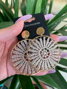 Carla Crotchet Earrings (Tan)
