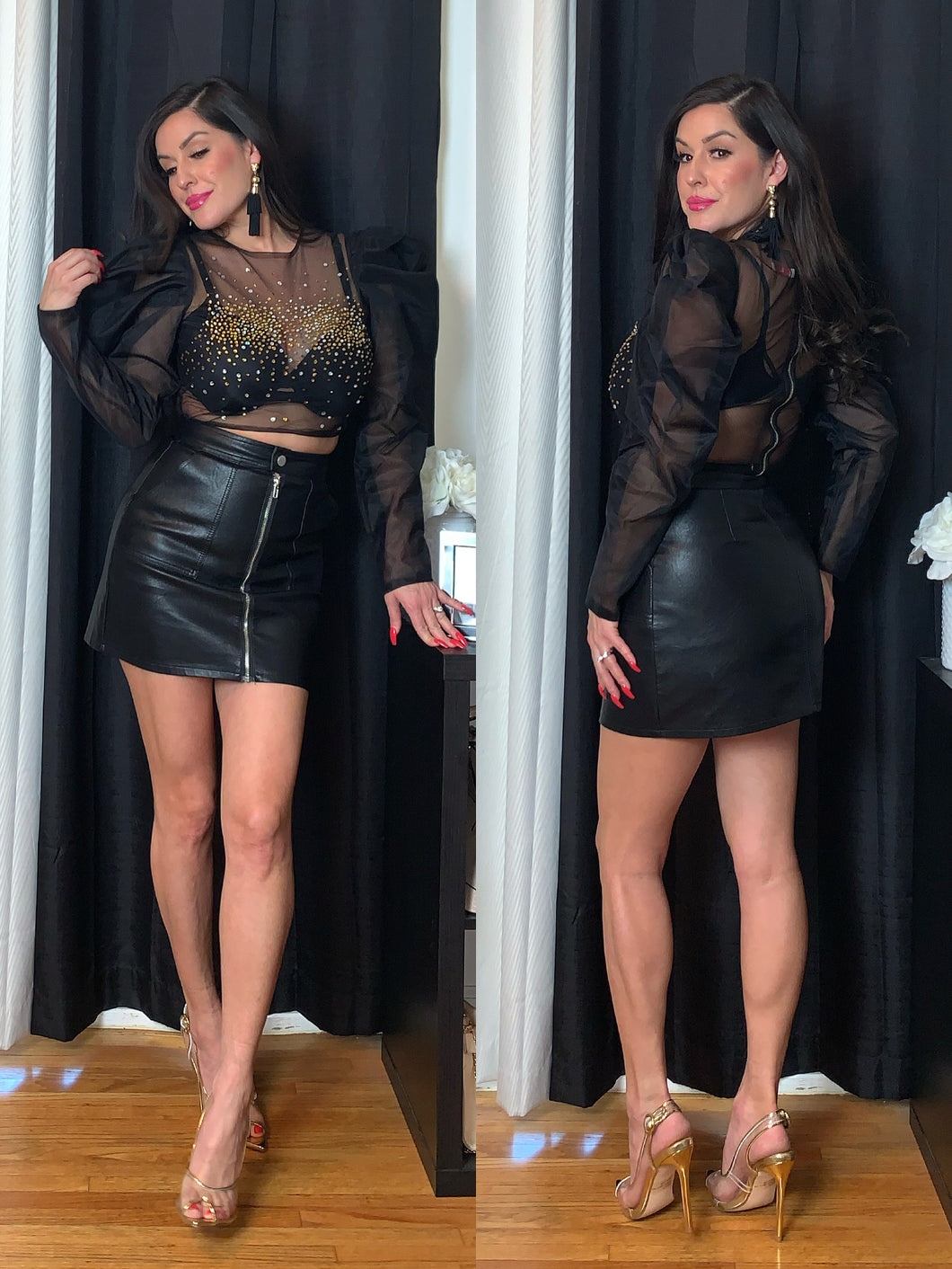 Love Lesson Faux Leather Skirt