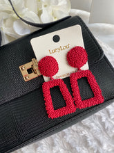 Load image into Gallery viewer, Making a Statement Earrings (Red)