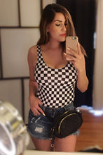 Load image into Gallery viewer, Let's Play Checkered Bodysuit