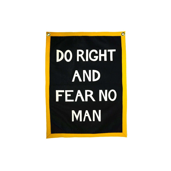 Camp Flag: Do Right And Fear No Man