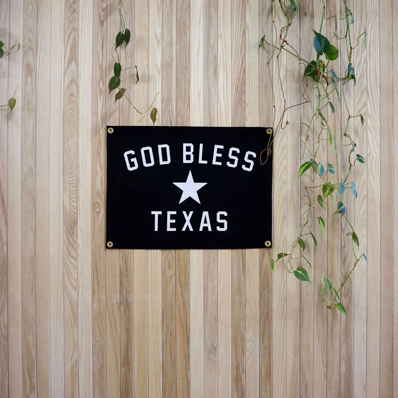 Camp Flag: God Bless Texas