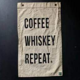 Flag: Coffee Whiskey Repeat.