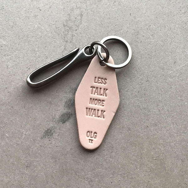 Keychain + Hook – Less Talk. More Walk. - Odin Leather Goods