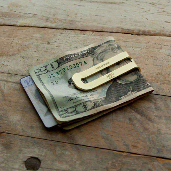 Brass Money Clip - Odin Leather Goods