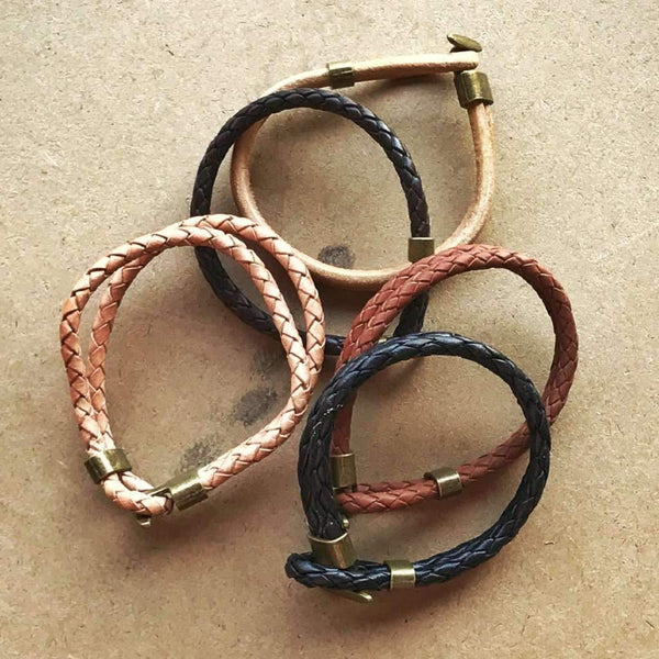 Hook + Loop Leather Bracelets - Odin Leather Goods