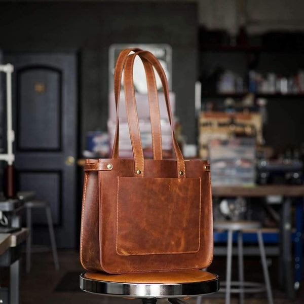 Rylie Commuter Tote - Odin Leather Goods