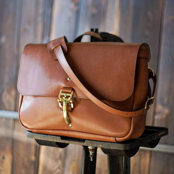 Texas Messenger - Golden Tan - Odin Leather Goods