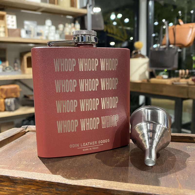 Flask - Powder Coated (6oz) - Odin Leather Goods