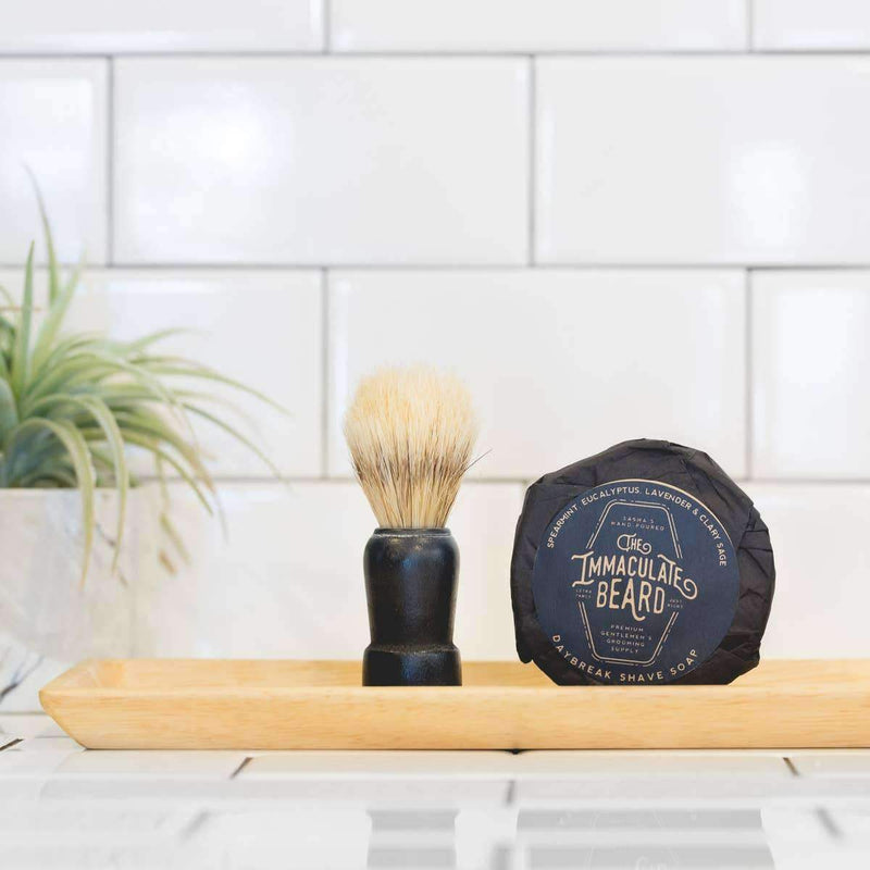 The Immaculate Beard Shave Soap Puck - Odin Leather Goods