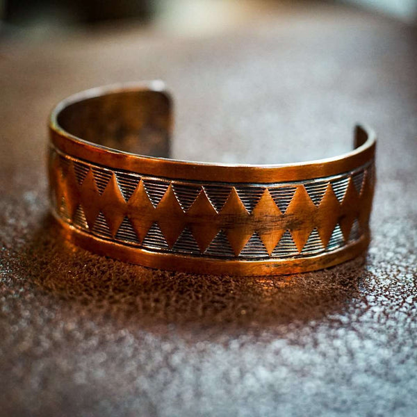 Hand Stamped Copper Bracelet - Odin Leather Goods