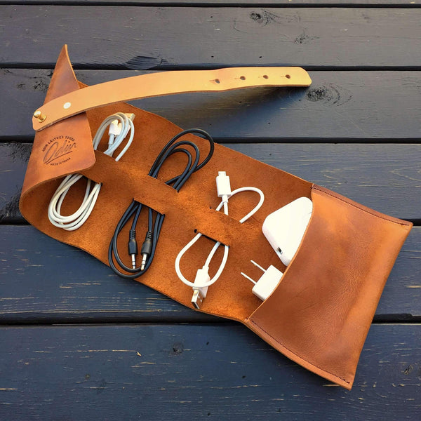 Charging Cable Tool Roll - Odin Leather Goods