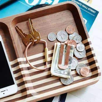 Wooden Rectangle Valet - Odin Leather Goods