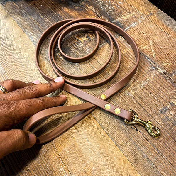 York Dog Lead - 6ft / Soft Grip - Odin Leather Goods
