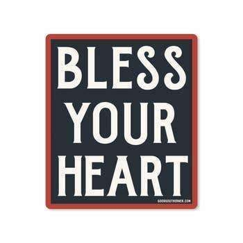 Sticker - Bless Your Heart - Odin Leather Goods