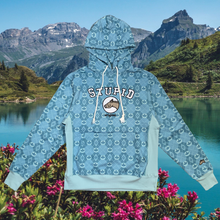 Load image into Gallery viewer, Stupid Hoodie (ice blue pattern)
